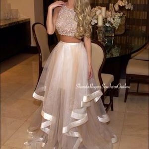 Terani Couture 2 piece prom dress
